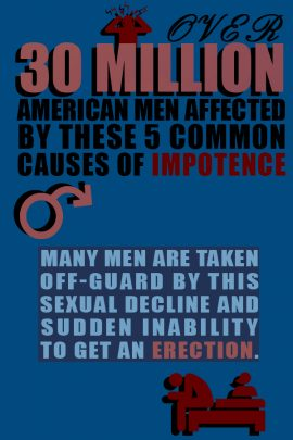 It may be a taboo subject, but impotence is a very real and very upsetting condition that affects as many as 30 million American men.