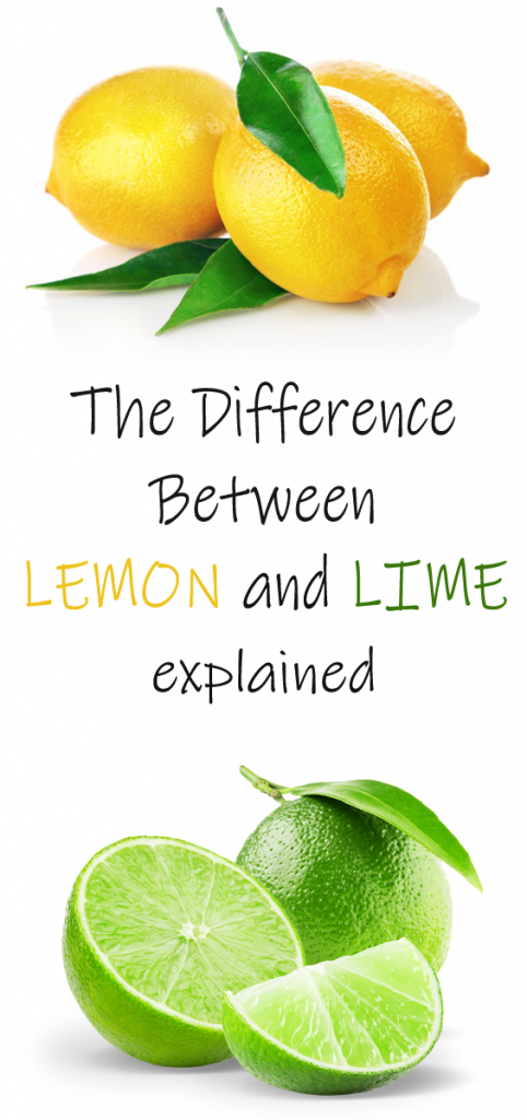 Lemon and lime are often confused because they are really close relatives.