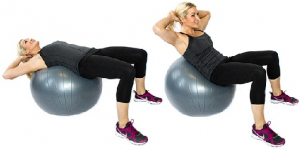 the ball crunch to lose lower belly fat