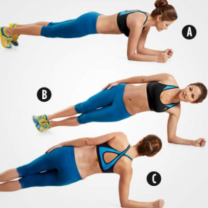 rolling plank to lose lower belly fat