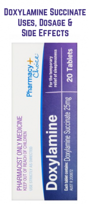 Doxylamine Succinate is one of the many sedating anti-histamines used to treat sleeping disorder such as insomnia