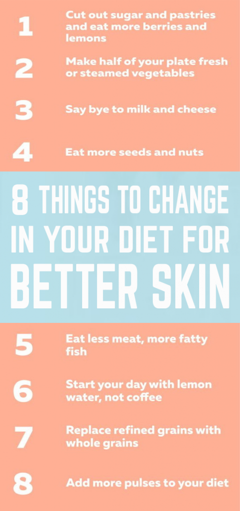 To really make a change you need to be prepared and you need time for the transition from your diet to that healthy diet that will improve your skin, health and life.