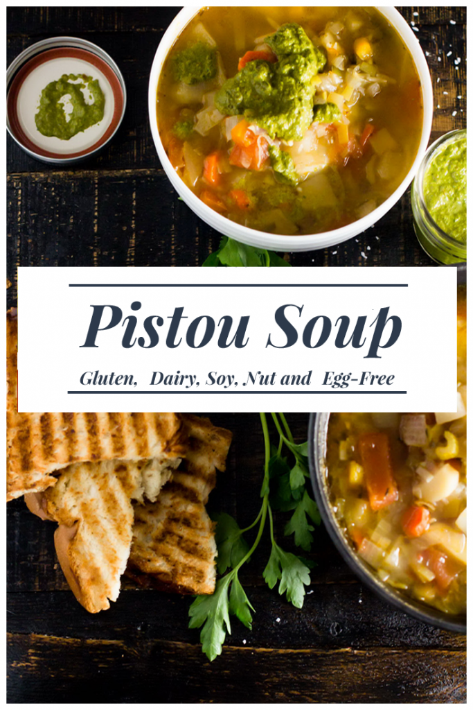 A simple water-based diary-free Pistou soup with amazing aroma & taste.