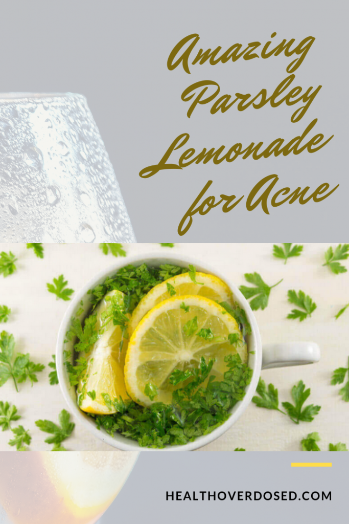 Amazing Parsley Lemonade for Acne