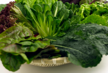 green leafy vegetables rich in lutein
