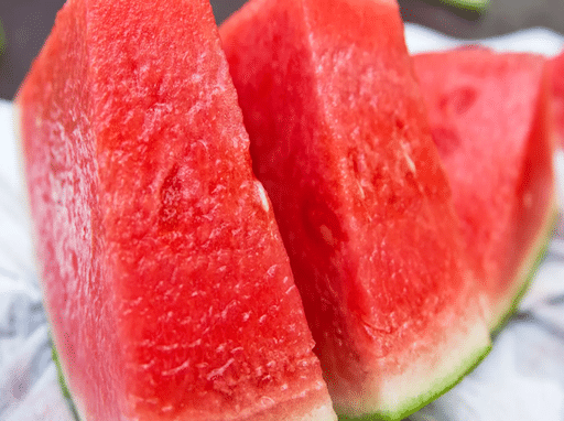 two slices of watermelon on a plate