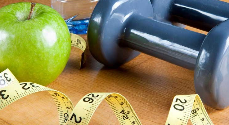 weight loss tools and an apple